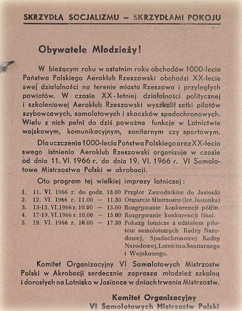 Fot. arch. Aeroklubu Rzeszowskiego