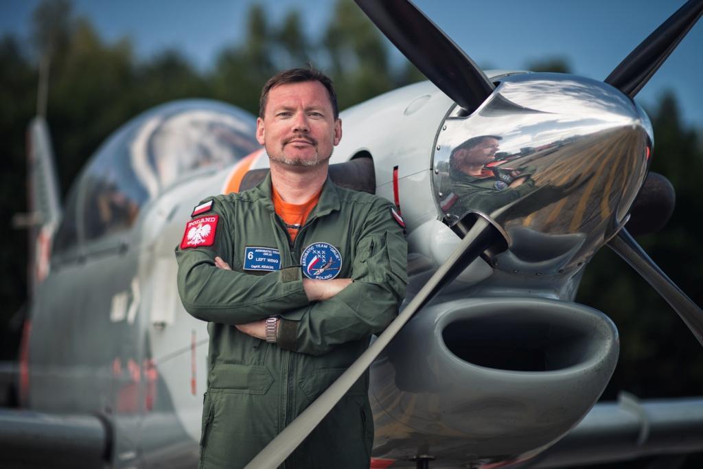 Krzysztof Kidacki pilot Zespół Akrobacyjny Orlik